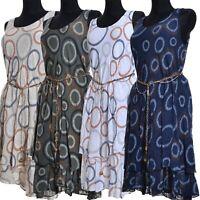 Lagenlook Sommer Kleid 2Tlg Tunika Weiß Blau Creme Grün 36 38 40 42 44 S M L