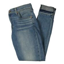 7 For All Mankind Womens Genevere Blue Denim Mid-Rise Ankle Jeans 29 BHFO 4675