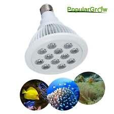 Led Aquarium Light 12W E27 Spot Light White Blue Light for Tank Fish Coral Reef