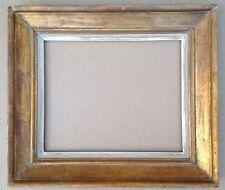 RARE CADRE ANCIEN EMILE BOUCHE 1940 DORURE A LA FEUILLE D'OR 6F / 41 x 33 CM
