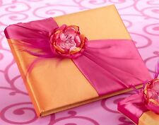 Hot Pink and Orange Guest Book (55 pages, 990 signatures)