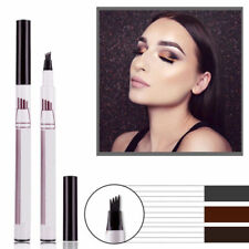 HOT Microblading Tattoo Eyebrow Pencil Waterproof Fork tip Ink Sketch Pen4Heads