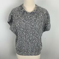 Anthropologie Field & Flower Womens Gray Knit Sweater, Size Medium