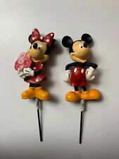 Disney Mickey and Minnie Mouse Garden Stakes Brand New. Never Used Free Shipping