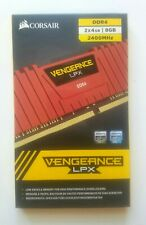 Corsair VENGEANCE LPX 8Gb (2x4Gb) DDR4 2400 Mhz Memory RED Gaming Computers