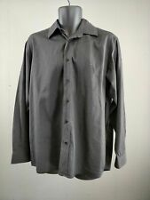 MENS LACOSTE GREY BUTTON UP LONG SLEEVE SHIRT 41