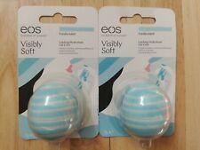 2x EOS Visibly Soft Lip Balm Sphere, Vanilla Mint, 7g New