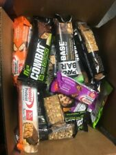 70 ASSORTED HIGH PROTEIN BARS 14-30 GRAMS PROTEIN LQQK NO RESERVE