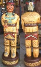 Cigar Store Indian Brave 6' Hand Carved 6 ft Wooden Sculpture by Frank Gallagher