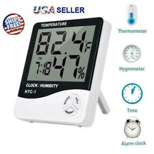 New listing Professional Digital Thermometer Lcd Hygrometer Humidity Meter Alarm Clock Home