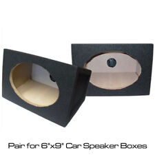 "6x9 Box Boxes Enclosure Pair for 6""x9"" Car Speakers Pods Black"