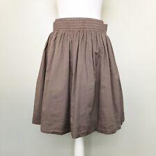 Banana Republic Womens Skirt Beige Elastic Waist Bubble Lined Pockets Pull On XS