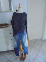 SOMEDAY lässige oversize Shirt Bluse, grau, Gr.L 40/42/44, Langarm, neuw.