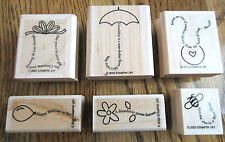 The Fine Print Set Of 6 Rubber Stamp Set Lot Stampin Up 2002