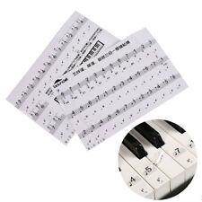 Keyboard Sticker Transparent Piano Keyboard Sticker Electronic Keyboard 88 Key^