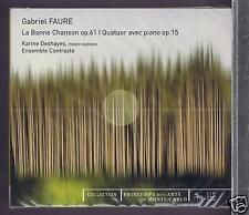 FAURE CD NEW QUATUOR NO 1 / LA BONNE CHANSON / ENSEMBLE CONTRASTE/ K.DESHAYES