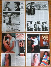 ANNE PARILLAUD spanish clippings 1980s sexy photos magazine Alain Delon