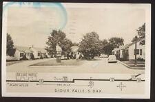 Postcard SIOUX FALLS,South Dakota/SD  De Luxe Motel Cabins/Cottages view 1950's