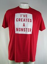 """Family Fun Young Men's Plus Size Red """"I've Created A Monster"""" T-Shirt"""