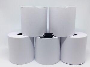 Qty 10 Paper Till Rolls + FREE Black Ink Roller For Sharp XEA102 XE A102 IR40