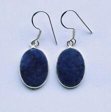 925 Sterlingsilber Ohrringe mit blauen Sodalith Edelsteinen, oval