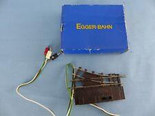 EGGER-BAHN aiguillage droit électrique + boite 3601 état neuf échelle HOe