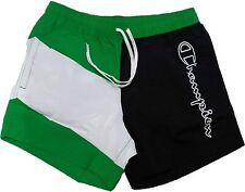 Costume da Bagno pantaloncini Uomo Champion Beachshort Nero verde con tasche