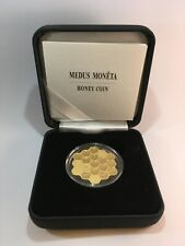 Latvia 2018 Honey Comb 5 Euro Coin Gold Plated Silver Low Mintage Rare UNC Box