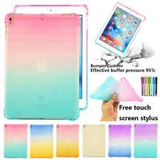 "Gradient Clear TPU Case Cover Soft Skin For Apple iPad 9.7"" Air & Air 2 Pro 2016"
