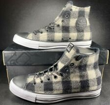 Converse X Woolrich Chuck Taylor All Star Hi Black White Plaid 153834C 9 Men
