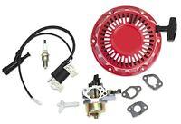 New Kit Fits Honda GX240 GX270 Carburetor Ignition Coil Recoil Spark Plug