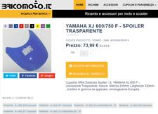 Cupolino  YAMAHA XJ 600 / 750 / 900 F Tipo Spoiler Trasparente incolore