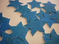 stars die cut punchies card making scrapbooking blue glitter handmade