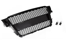 For Audi A5 B8 8T S5 RS Mesh Honeycomb Badged Sport Front Tuning Grill Black