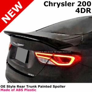 2015-2016 Chrysler 200 Painted Rear Trunk Lid Spoiler 4Dr BLACK PX8