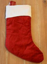 "New Pottery Barn RED VELVET Christmas Holiday Stocking - Medium 19 1/2"""