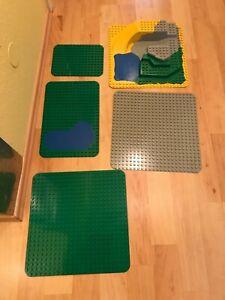 Lego Duplo 3D Bodenplatte, 2 große Bodenplatten,Bauplatte,1 mittlere & 1 kleine
