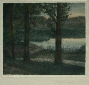 Clara KAUFFMANN-MELLIN (Berlin 1871-?) Abend am Inn.