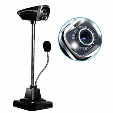 12 MP Webcam USB 2.0 Adjustable Angle HD Night Vision Web Camera with Microphone