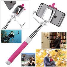 Rose Portrait Pole Portable Monopode Bâton Selfie Téléphone Arrière