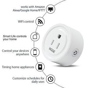 Smart Plug, Mini Smart WiFi Outlet Compatible with Alexa, Google Assistant 2/pk