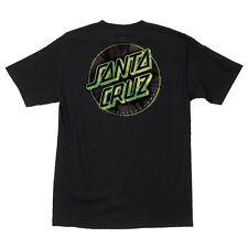 Santa Cruz Warp Dot Skateboard T Shirt Black Medium