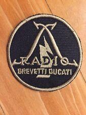 original DUCATI Aufnäher RADIO BREVETTI DUCATI MOTORCYCLE Patch NEU