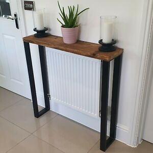 Console Table Reclaimed Timber Box Frame Legs
