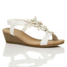 Sandali e scarpe spilliamo casual bianchi per il mare da donna