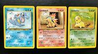 Pokemon 1st Edition Starters, CYNDAQUIL, CHIKORITA, TOTODILE Neo Genesis Set