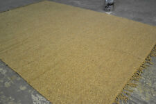 Large 150x215cm Brown Chunky weave Stunning Plain rustic Modern 1cm Thick rugs