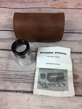 Vintage Bausch And Lomb Measuring Magnifier Coin, Jewelers Loupe 7X Tool