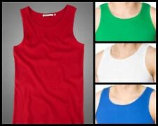New MENS VESTS 100% Cotton TANK TOP SUMMER TRAINING GYM TOPS SLIM FIT S-XL