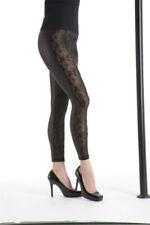 Elastane Machine Washable Floral Leggings for Women